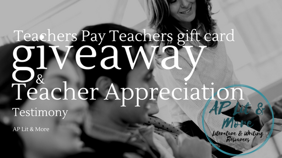 Teacher apprecitation giveaway blog post